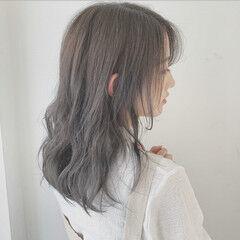 モテ髮シルエット ナチュラル ゆるふわセット モテウルフ ヘアスタイルや髪型の写真・画像