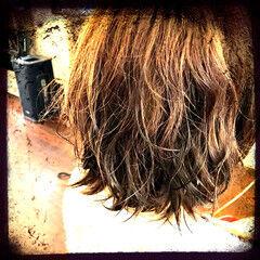 ミディアム ガーリー ウェーブ ルーズ ヘアスタイルや髪型の写真・画像