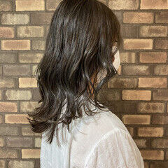 ミディアム イルミナカラー 韓国風ヘアー ナチュラル ヘアスタイルや髪型の写真・画像