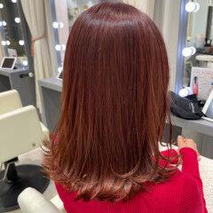 ミディアム ナチュラル 銀座美容室 レイヤーカット ヘアスタイルや髪型の写真・画像