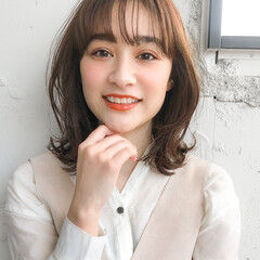 外ハネボブ 韓国ヘア ウルフカット ナチュラル ヘアスタイルや髪型の写真・画像