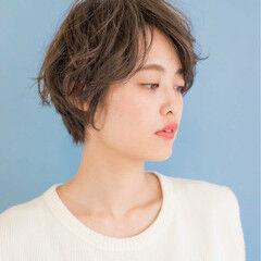 波留 マッシュ ショート フェミニン ヘアスタイルや髪型の写真・画像