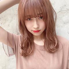 ロング 韓国ヘア ナチュラル デート ヘアスタイルや髪型の写真・画像