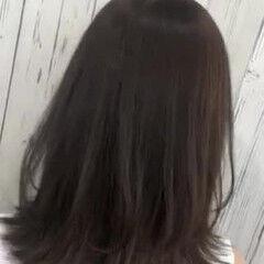 モテ髪 トレンド 透明感カラー ミディアムレイヤー ヘアスタイルや髪型の写真・画像