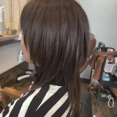 マッシュヘア ゆるナチュラル セミロング マッシュ ヘアスタイルや髪型の写真・画像