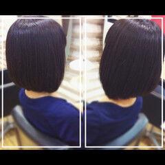 髪質改善 ボブ 髪質改善トリートメント 社会人の味方 ヘアスタイルや髪型の写真・画像