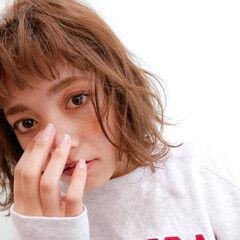 シースルーバング ボブ 無造作パーマ 透明感 ヘアスタイルや髪型の写真・画像