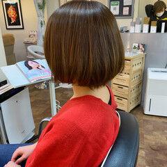 ナチュラル 縮毛矯正 ボブ 縮毛矯正ストカール ヘアスタイルや髪型の写真・画像