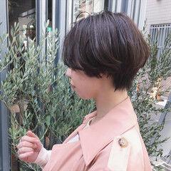 大人女子 ショート 小顔 ウェットヘア ヘアスタイルや髪型の写真・画像