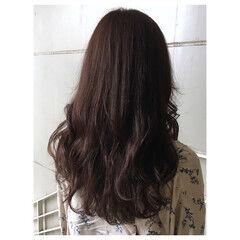 ロング ピンクベージュ ナチュラル ピンクブラウン ヘアスタイルや髪型の写真・画像
