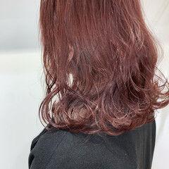 カシスレッド フェミニン カシスカラー ボブ ヘアスタイルや髪型の写真・画像