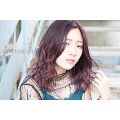 トワイライトパープル N.オイル ナチュラル可愛い エレガント ヘアスタイルや髪型の写真・画像