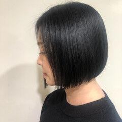 ショートヘア ボブ ナチュラル タッセルボブ ヘアスタイルや髪型の写真・画像