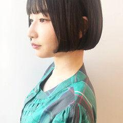 まとまるボブ モテボブ 似合わせカット 多毛 ヘアスタイルや髪型の写真・画像