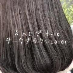 モテボブ 大人ミディアム ロブ ヘアアレンジ ヘアスタイルや髪型の写真・画像