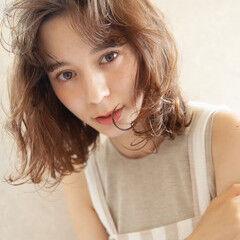 透け感アッシュ フェミニン ヘアアレンジ ボブ ヘアスタイルや髪型の写真・画像