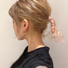 ハイトーン 簡単ヘアアレンジ ボブ ハイトーンボブ ヘアスタイルや髪型の写真・画像