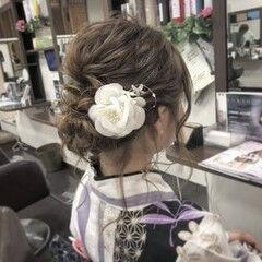 ゆるふわ お祭り 編み込み 夏 ヘアスタイルや髪型の写真・画像