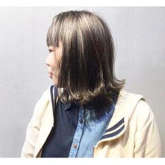 カッパー ネイビー ボルドー パープル ヘアスタイルや髪型の写真・画像