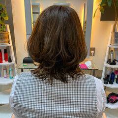 ヘアドネーション 大人ミディアム ウルフカット ミディアム ヘアスタイルや髪型の写真・画像