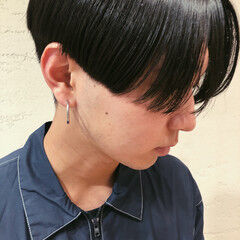 ヘアオイル メンズヘア 韓国ヘア モード ヘアスタイルや髪型の写真・画像