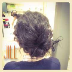 ショート 簡単ヘアアレンジ ギブソンタック ねじり ヘアスタイルや髪型の写真・画像