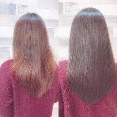 イルミナカラー デート おしゃれ フェミニン ヘアスタイルや髪型の写真・画像