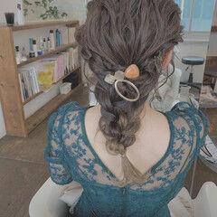 ロング ふわふわヘアアレンジ フェミニン 結婚式ヘアアレンジ ヘアスタイルや髪型の写真・画像