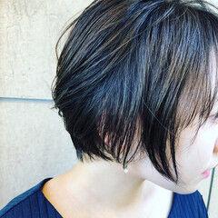 ショート セクシー コンサバ レザーカット ヘアスタイルや髪型の写真・画像