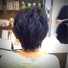 黒髪 ショート ストリート ふわふわ ヘアスタイルや髪型の写真・画像