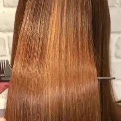 ナチュラル ロング 縮毛矯正 髪質改善 ヘアスタイルや髪型の写真・画像