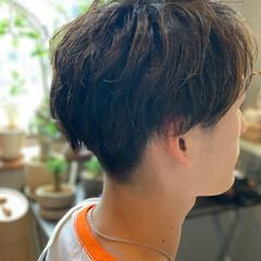 メンズカット メンズヘア メンズ メンズマッシュ ヘアスタイルや髪型の写真・画像
