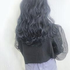 ダークアッシュ 暗髪 ダークカラー ブルージュ ヘアスタイルや髪型の写真・画像