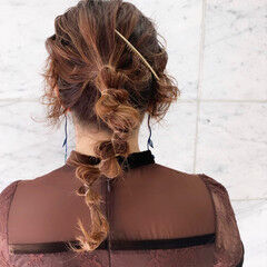 結婚式ヘアアレンジ ヘアアレンジ 簡単ヘアアレンジ ラーメンマンヘア ヘアスタイルや髪型の写真・画像