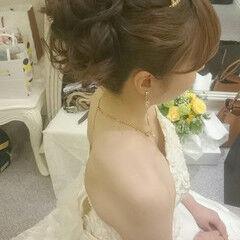 パーティ ロング ガーリー ドレス ヘアスタイルや髪型の写真・画像