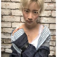 原宿系 ストリート ハイトーン アンニュイ ヘアスタイルや髪型の写真・画像