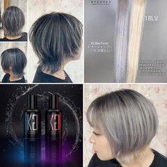 3Dハイライト ネオウルフ ベリーショート モード ヘアスタイルや髪型の写真・画像