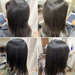 セミロング エレガント チョコレート 薄毛改善 ヘアスタイルや髪型の写真・画像