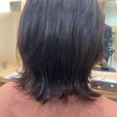 ミディアム イルミナカラー オーガニックカラー ピンク ヘアスタイルや髪型の写真・画像