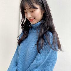 ロング 韓国風ヘアー 韓国 フェミニン ヘアスタイルや髪型の写真・画像