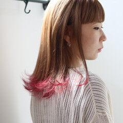 ショート ラベンダーアッシュ ピンクパープル ストリート ヘアスタイルや髪型の写真・画像