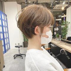 ショート 小顔ショート ショートボブ ショートヘア ヘアスタイルや髪型の写真・画像