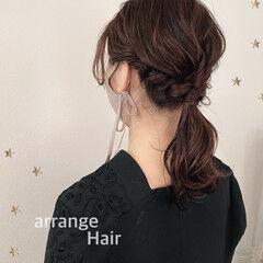 ナチュラル ミディアム 結婚式ヘアアレンジ 結婚式アレンジ ヘアスタイルや髪型の写真・画像