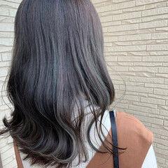 ラベンダーアッシュ モード ブルーアッシュ アッシュグレー ヘアスタイルや髪型の写真・画像