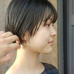 ショート ナチュラル可愛い ショートヘア 大人ショート ヘアスタイルや髪型の写真・画像