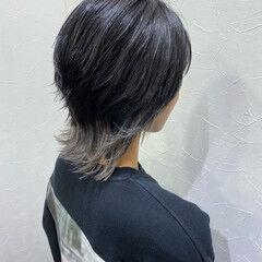 ショート ウルフカット ストリート インナーカラー ヘアスタイルや髪型の写真・画像