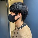 パーマ 銀座美容室 ショート メンズヘア