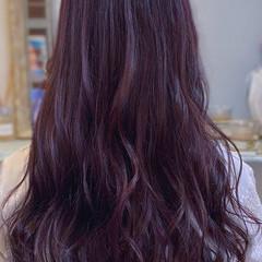 ラベンダー ロング ラベンダーピンク ナチュラル ヘアスタイルや髪型の写真・画像