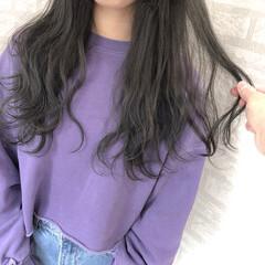 黒髪 学校 ナチュラル ロング ヘアスタイルや髪型の写真・画像