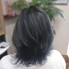ストリート アッシュグレー ミディアム グラデーション ヘアスタイルや髪型の写真・画像